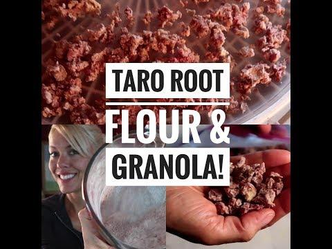 How to make Taro Root Flour- and AIP breakfast granola!
