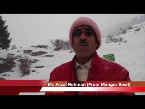 Snow Fall and way to Malam Jabba مالم جبہ Hill Station Karakoram mountain Swat Valley KPK 7 Feb 2015