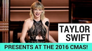 taylor swift surprises everyone at the 2016 cmas
