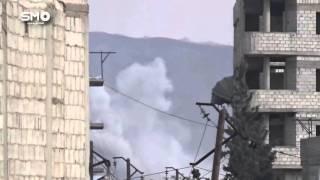 شاهد.. قصف عنقودي على مدينة دوما السورية