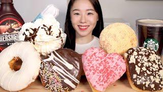 ASMR Dunkin Donuts Mukbang 던킨도…