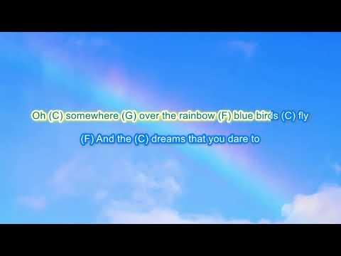 Somewhere Over The Rainbow By Israel Kamakawiwo'ole Play Along With Scrolling Guitar Chords \u0026lyrics