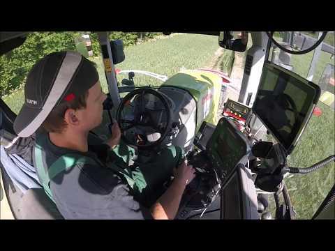 Minerāl M. Kaisīšana. Claas Axion 850 & Amazone ZA-N (Fertilizer spreading). [GoPro] [Cab View]