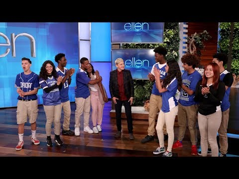 High School Principal and Students Score Big with Gift from Ellen