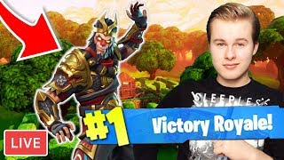 GET WINS WITH THE NEW SKIN + 500 EURO DONATION!! -Royalistiq Fortnite Livestream (English)