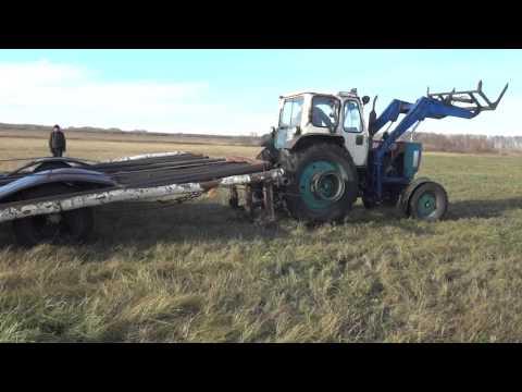трактор юмз, вывозка