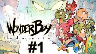"""Прохождение Wonder Boy The Dragon's Trap Серия 1 """"Когда превратили в бескрылого дракона"""""""