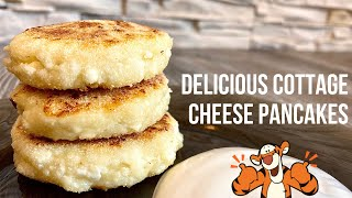 Delicious Cottage Cheese Pancakes! Cooking fast and easy! Yummy