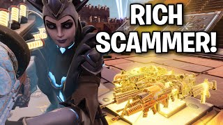 How RICH Scammers inventories look like! 😱🤯 (Scammer Get Scammed) Fortnite Save The World