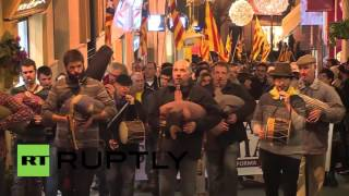 Spain: Hundreds rally in support of Catalan independence in Majorca
