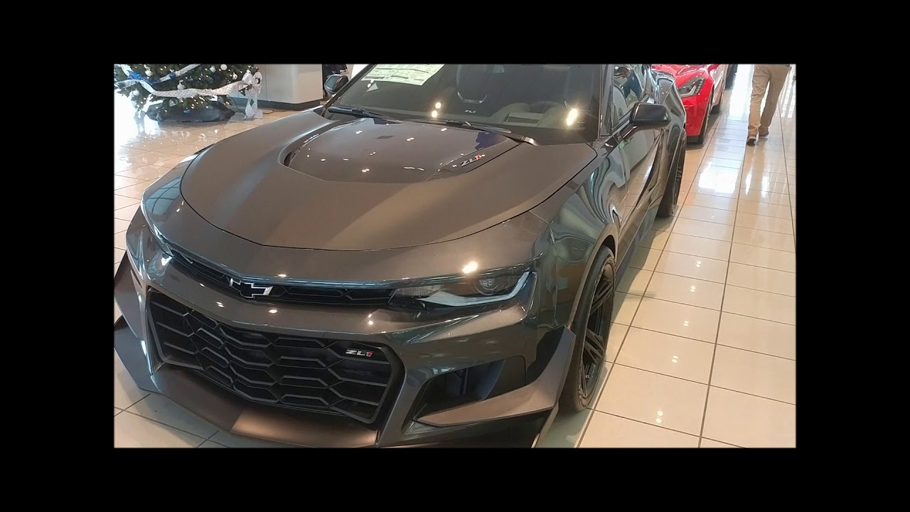 2018 Nightfall Gray Metallic Camaro Zl1 1le Youtube