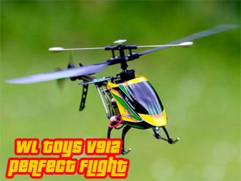 Outdoor test flight WLtoys v912 4CH helicopter