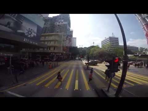 เส้นทางของรถสองชั้นในฮ่องกง