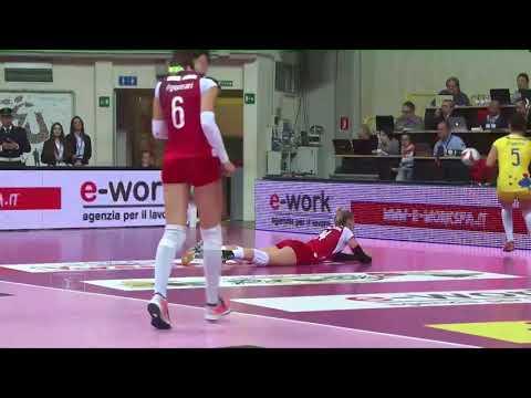 Pallavolo A1 femminile - Busto Arsizio-Filottrano 3-0: highlights