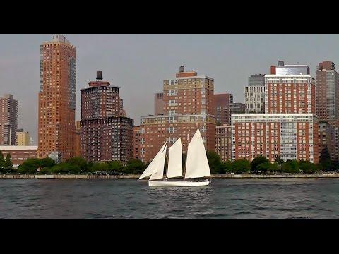 Auf dem Hudson River vor New York