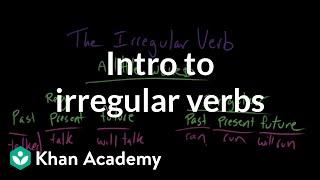 Introduction to irregular verbs | The parts of speech | Grammar | Khan Academy