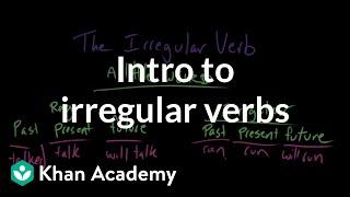 Introduction to irregular verbs | The parts of speech | Grammar | Khan Academy