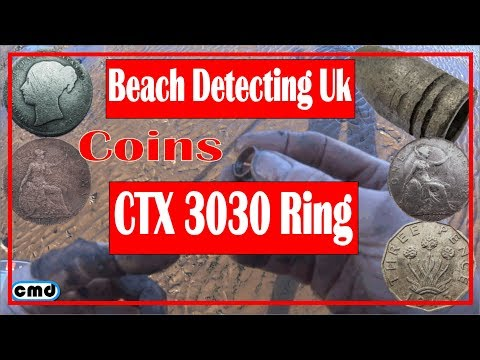 beach Metal detecting with the CTX3030, silver and jewellery and coins