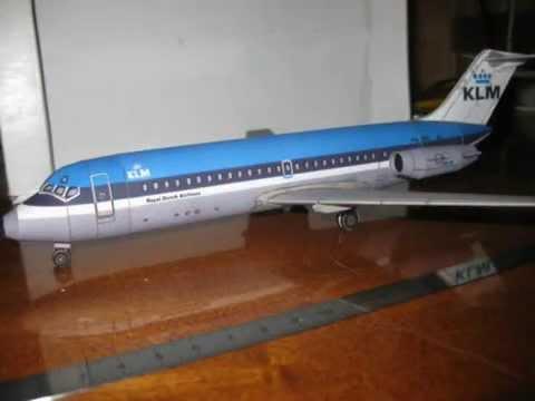 Papercraft DC-9 KLM paper model 1:105