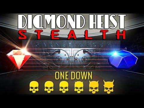 [Payday 2] Diamond Heist - One Down *Solo Stealth* [All Loot