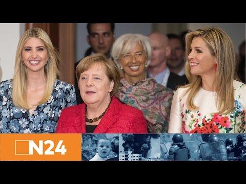 Women20 Summit: Podiumsdiskussion mit Ivanka Trump und Angela Merkel
