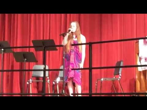 Gates Chili High School 2014 Tri-M induction performance - Brynna and Parker: Color Blind