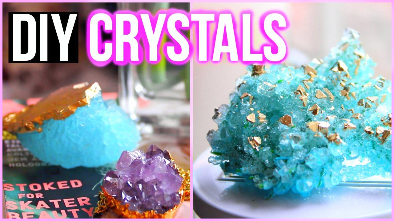 Diy crystals at home tumblr inspired room decor youtube for Crystal home decorations