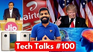 Tech Talks #100 - Jio AirTel War, Nokia MIKA, Whatsapp Live Location, Xiaomi Fails, My Setup
