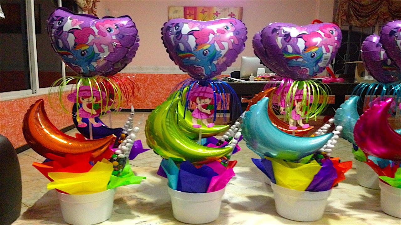 Centro de mesa para cumplea os my little pony 18 youtube - Centros de mesa para cumpleanos ...