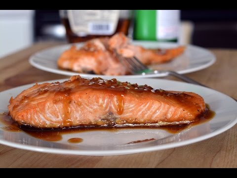 Maple Glazed Salmon Recipe | How To Make Baked Salmon | SyS