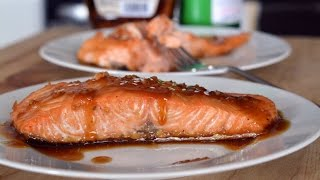 Maple Glazed Salmon Recipe  How To Make Baked Salmon  SyS