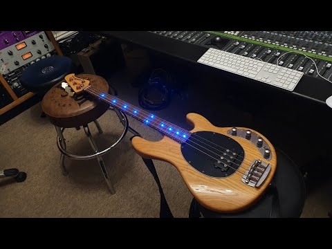 Ernie Ball Musicman Stingray Bass 3EQ Custom SIMS LED Inlays Up Close Video Review
