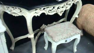 Ornate Shabby Chic Console Tables And Stools
