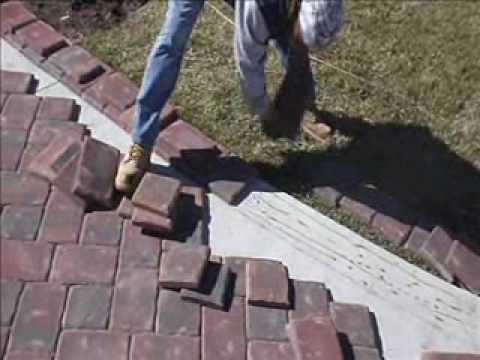 paver installation on concrete using mason bond - youtube