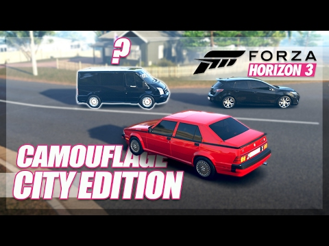 Forza Horizon 3 - Camouflage City Edition! (Mini Games & Random Fun)