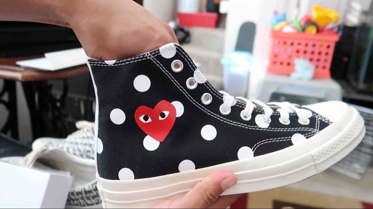 cdg converse black high