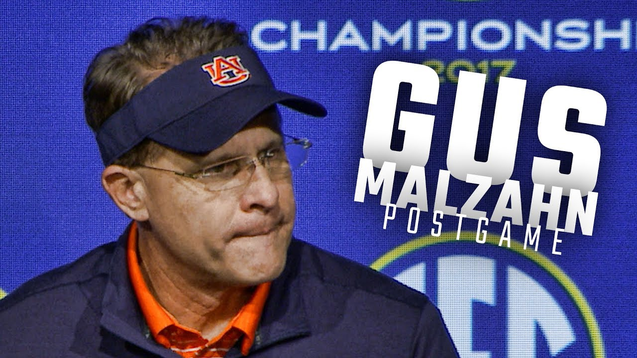 gus-malzahn-jarrett-stidham-address-the-media-following-auburn-s-sec-championship-loss-to-georgia