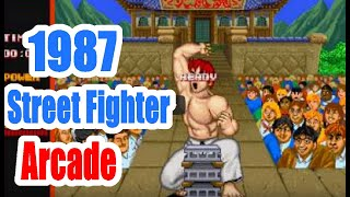 1987 Street Fighter Arcade Old School Game Playthrough Retro game