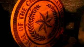 Cherokee Nation Seals handmade in natural wood at Eagle Dancer Gallery ~ Texas