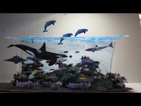 Diorama del Océano paso a paso