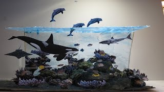 Maqueta del Océano paso a paso