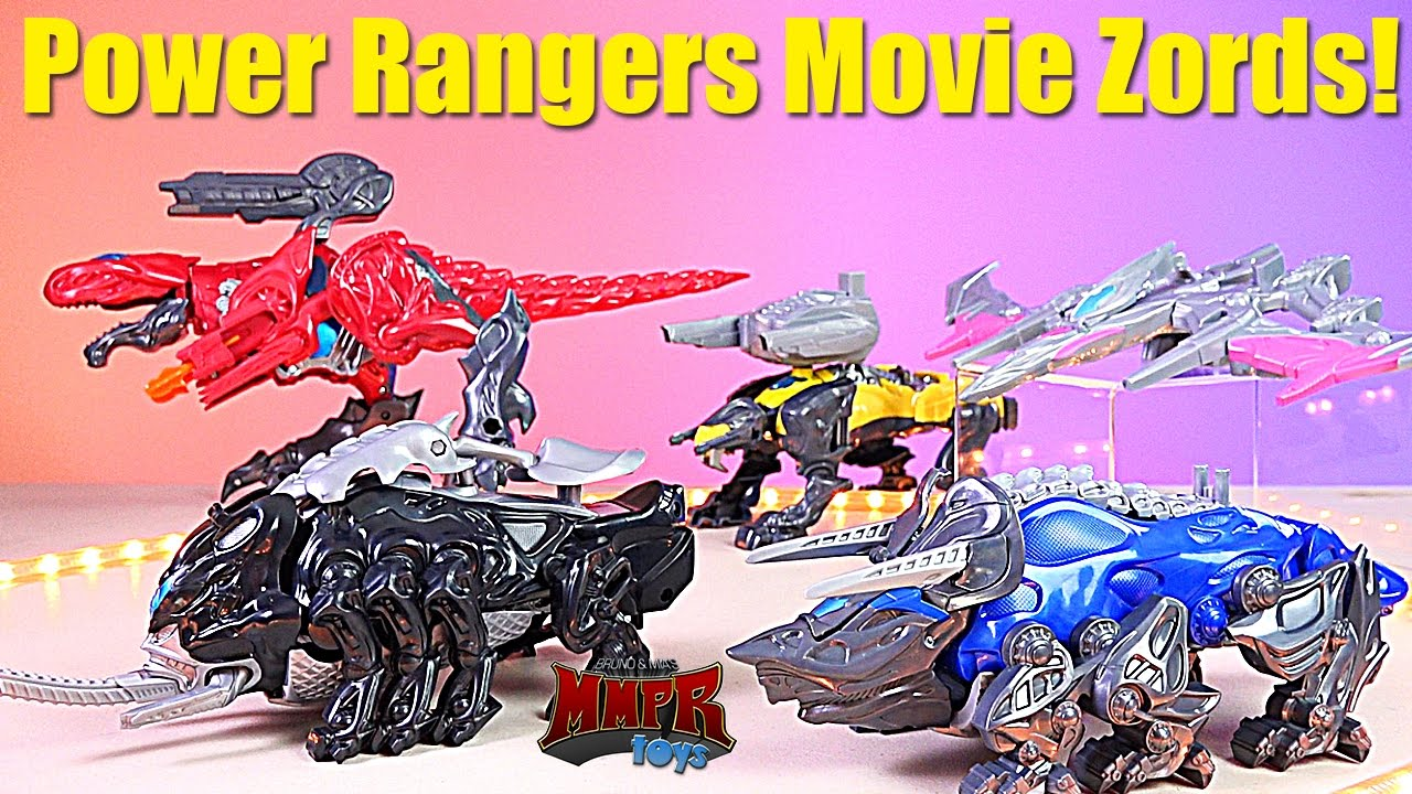 Power Rangers Movie Sabretooth Battle Zord with Yellow Ranger Figure