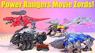 Power Rangers Movie Battle Zords Review! & Figures! #powerrangersmovie