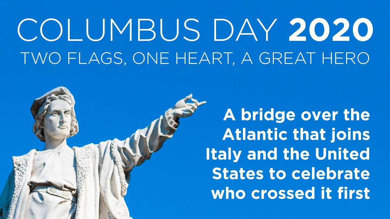 Download Columbus Day 2020. Two flags, One heart, a great hero