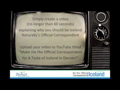 Be the Official Correspondent for A Taste of Iceland in Denver!