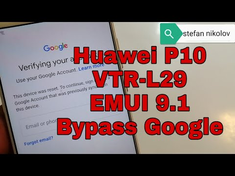 BOOM!!! Huawei P10 VTR-L09/ VTR-L29. Remove Google Account,Bypass FRP.