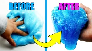 CRISPY ICEBERG SLIME! HOW TO MAKE FLUFFY SLIME WITHOUT SHAVING CREAM DIY Bum Bum