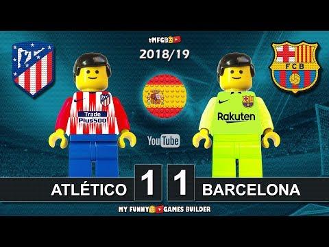 Atlético Madrid vs Barcelona 1-1 • LaLiga 2019 (24/11/2018) Goal Highlights Film Lego Football - 동영상