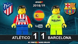 Atlético Madrid vs Barcelona 1-1 • LaLiga 2019 (24/11/2018) Goal Highlights Film Lego Football