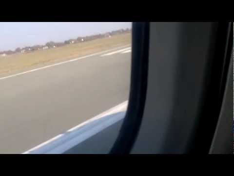 Jat Airways ATR 72 Take off from Belgrade, flight to Podgorica